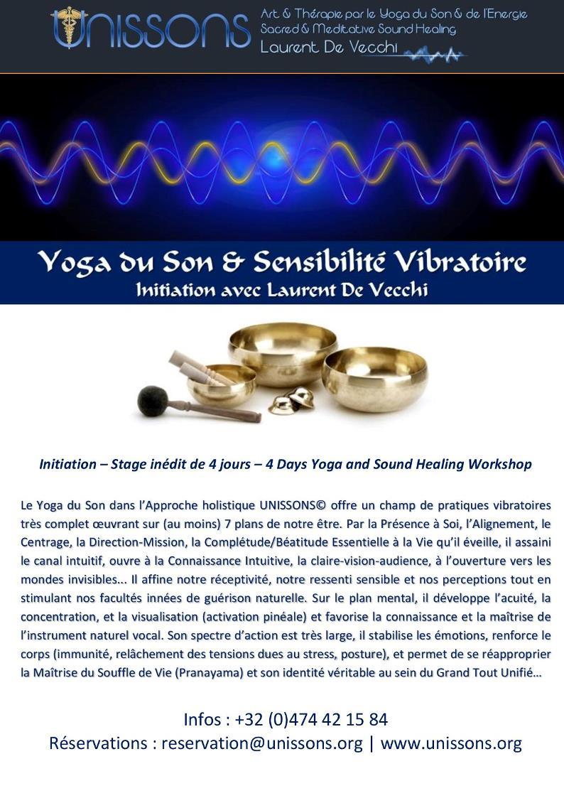 Yoga du Son                                                         &                                                         Sensibilité                                                         Vibratoire